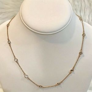Giani Bernini Necklace 18k Rose Gold/Sterling NEW